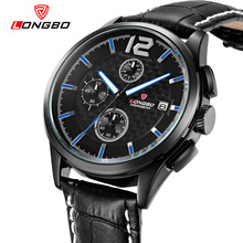 LONGBO Men's Watch Outdoor Clock Quartz Leather Casal Wristwatch New Male Sports Watch Masculino 80178 Luminous 30m Waterproof