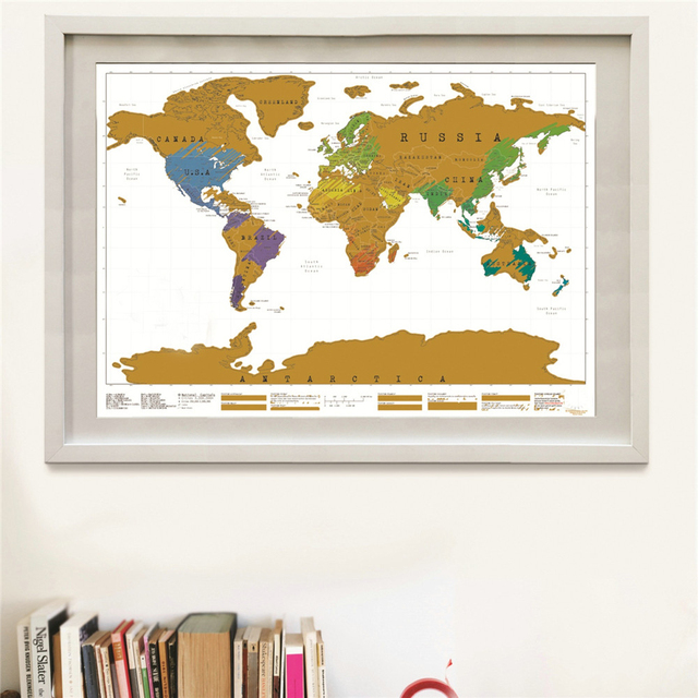Drop shipping deluxe travel scratch world map vintage gold black drop shipping deluxe travel scratch world map vintage gold black poster personalized living room bar pub gumiabroncs Images