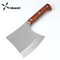 KKWOLF Chopping bones Hatchet Splitting Axe camping Hunting fixed knife survival Tomahawk Broad Hammer Axe stainless steel Tools