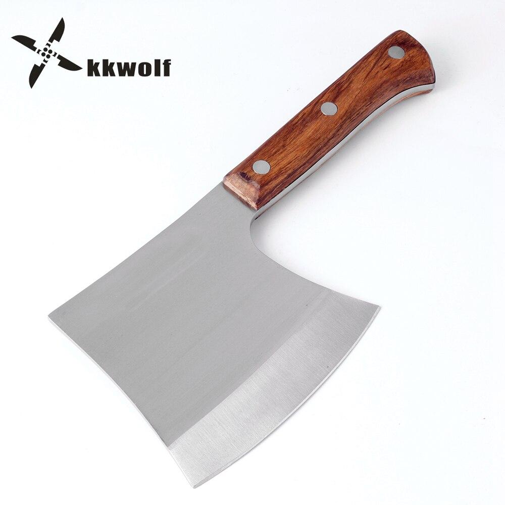 KKWOLF hacher les os hachette fendre hache camping chasse couteau fixe survie Tomahawk large marteau hache acier inoxydable outils