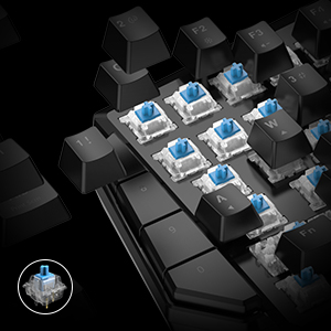 Mini Mechanical Blue Switches PC Gaming Keypad for FPS Games, One-hand Keyboard with LED light - GK100 13