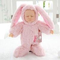 בובת תינוק שנולד מחדש חמוד סימולציה שינה Nooer כמו בחיים סיליקון ארנב בחיים תינוק ישן ילדים בובת קטיפה צעצוע מתנת ילדה יום הולדת