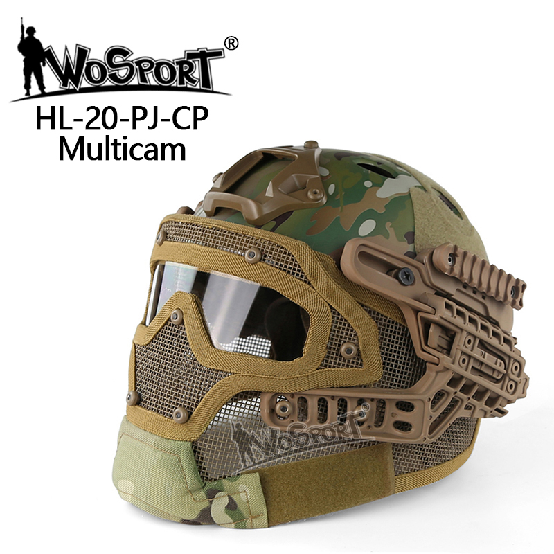 Hunting Sports Tactical Helmet BJ MH PJ ABS Mask with Goggle for Military Airsoft Paintball Army WarGame Cycling Hunting Helmets military tactical helmet airsoft paintball sports gear head protector and hunting with night vision sport camera mount