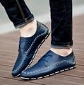 Men Leather Casual Shoes 2016 Autumn Male Shoes Blue Black,designer Shoes Casual Breathable Mens Shoes Comfort Loafers