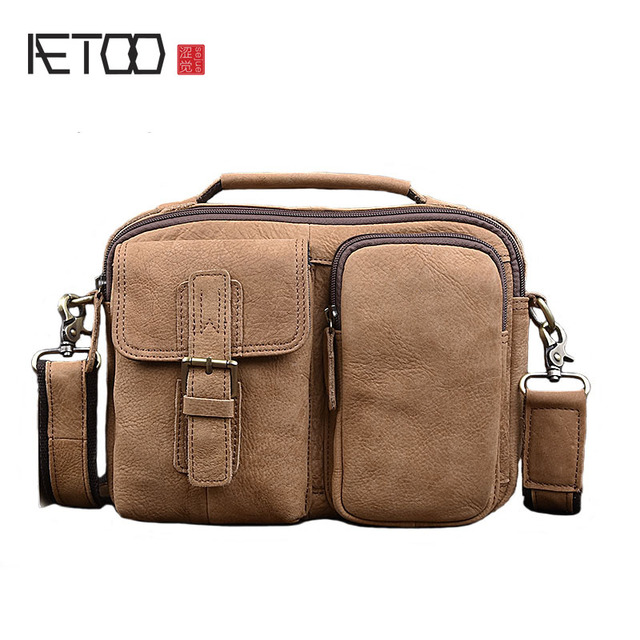 91014ebf51 AETOO Leather men bag handbags men cross section business briefcase casual men  bag shoulder Messenger bag leather