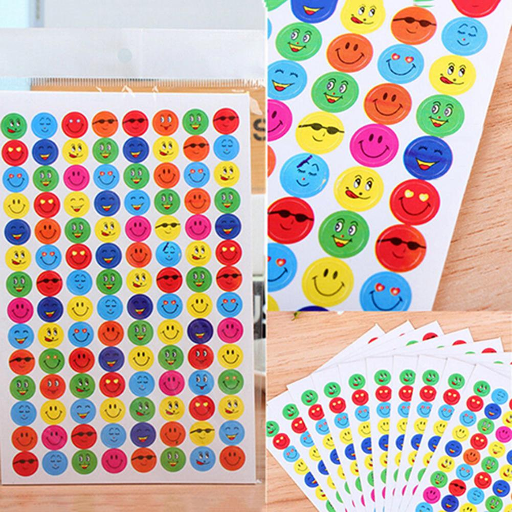 1120Pcs Reward Smile Love Heart School Teacher Praise Kids Face Stickers DIY Decals  For Notebook Albums Scrapbook Classic Toys