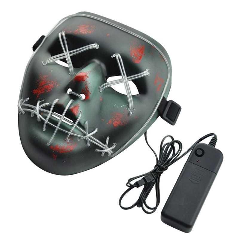Buy Cheap Dropshipping El Wire Mask Light Up Neon Skull Led Mask For Halloween Party 2018 Theme Cosplay Masks Us Kids Costumes & Accessories Costumes & Accessories