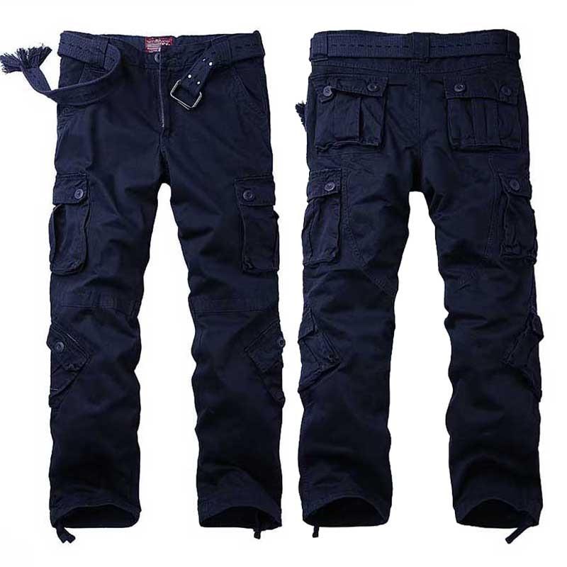 Grande taille Baggy Cargo pantalon pour hommes et femmes printemps hiver pantalon à jambes larges hommes Joggers pantalon militaire Camouflage vêtements - 2