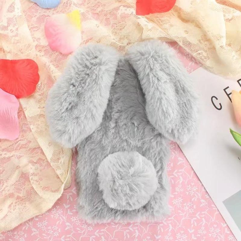 Bunny Plush sFor Coque Sony Xperia XA Ultra Case Silicon Rabbit Furry Back Cover For Sony Xperia XA Ultra Phone Case Capinha