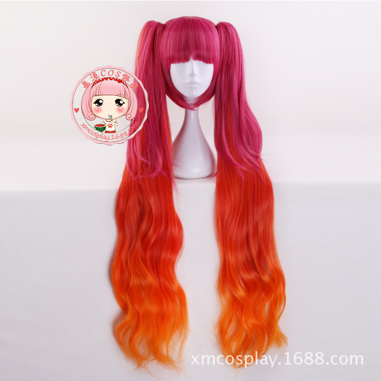 Arena of Valor 5v5 Arena Game Wig Cosplay Mega Angela Pink Long Wavy Halloween Lolita Role Play Hair