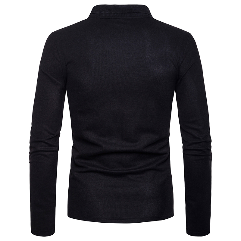 Image 5 - Covrlge 2018 High Quality Tops&Tees Men's Polo Shirts Business Fashion Autumn Slim Fit Style Long Sleeve Polo Shirt Men MTP102-in Polo from Men's Clothing