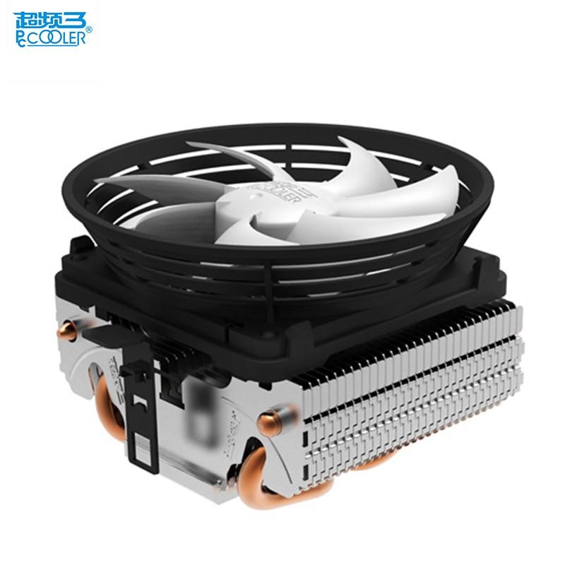 PcCooler V4 CPU refroidisseur 2 heatpipe 3pin 10 cm ventilateur silencieux pour AMD pour Intel LGA 775 1151 1150 1155 1156 cpu de refroidissement radiateur ventilateur
