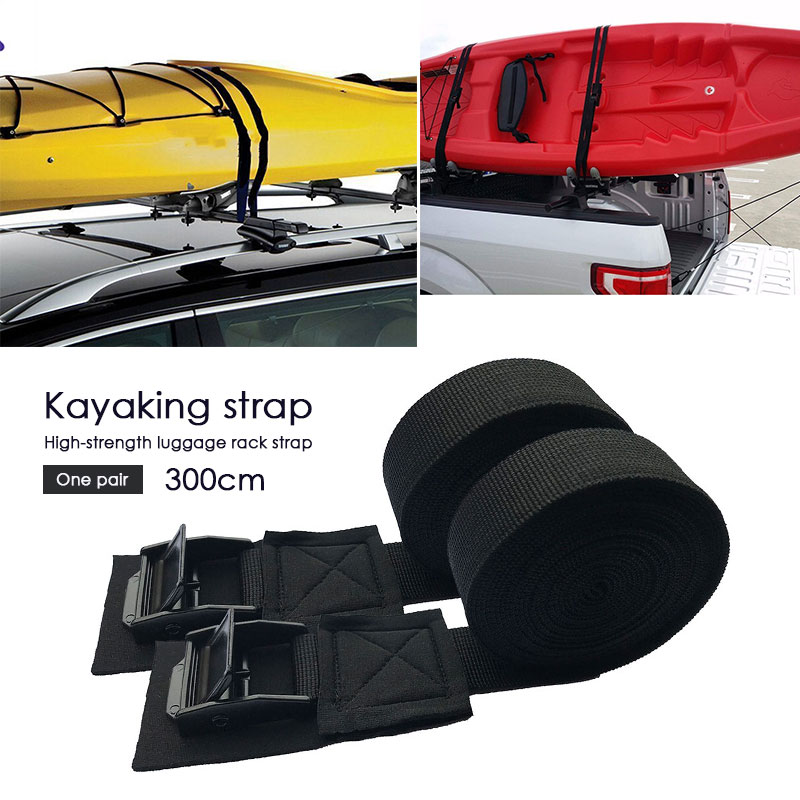 2pcs Rowing Boat Strap Black Nylon Belt Sports Cool Paddle Board Water Supplies Accessories Swim SUP Paddleboard