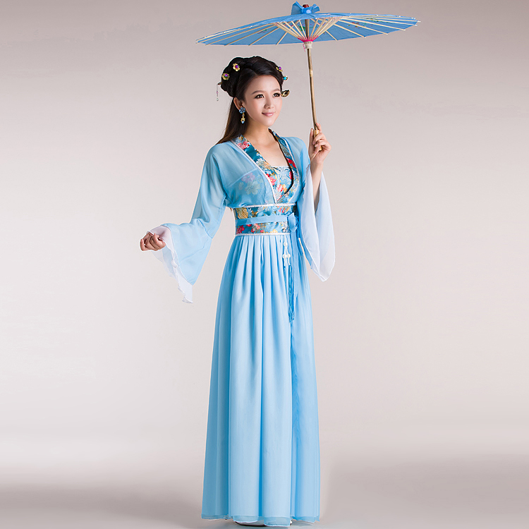 Chinese traditional Ancient womens hanfu Costumes Women Hanfu Clothes Lady fairy gorgeous princess costume dress 8colors