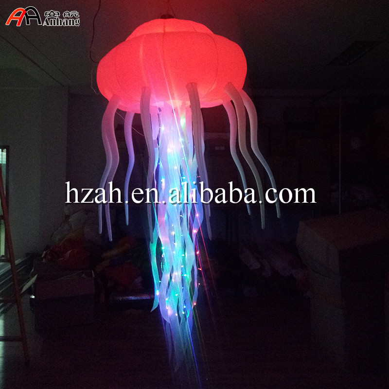 New colorful lighting inflatable jellyfish balloon for decoration home decoration lighted inflatable jellyfish