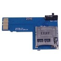 2 em 1 sistema duplo tf micro-cartão sd adaptador de placa de memória para raspberry pi zero w