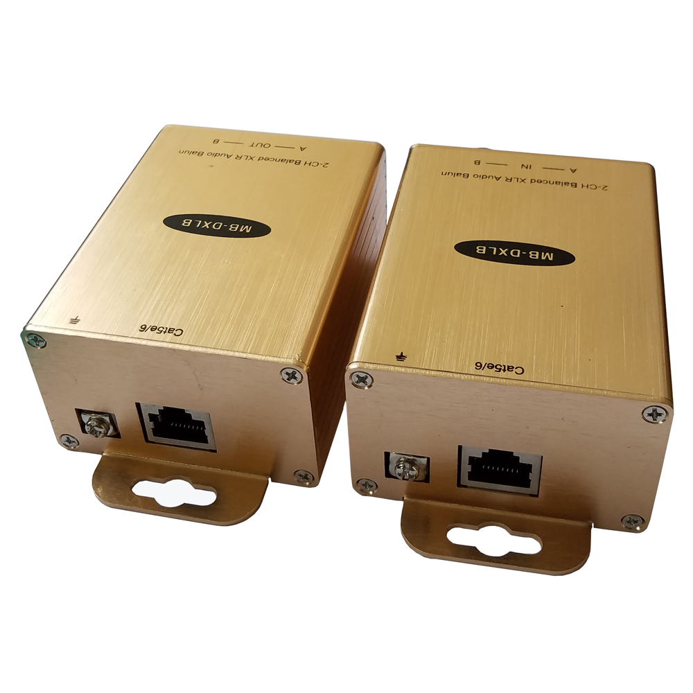 Professional Mixer Audio Extender Over Cat5/6 Professional audio Noise Eliminator via cat5/6 with 2KV Surge protection