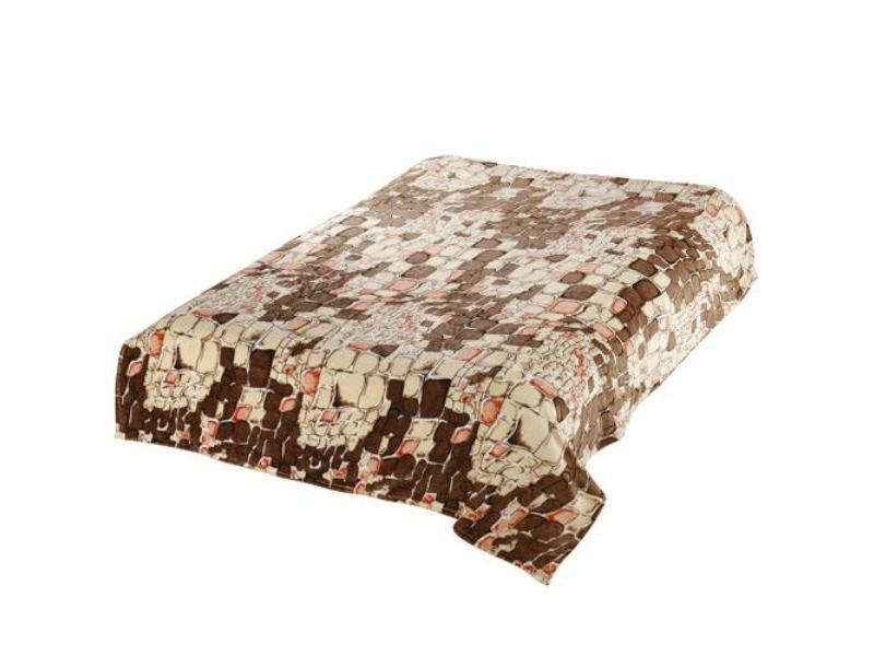 Plaid double ABSOLUTE, Pebbles, 180*220 cm, Brown multi function check plaid pattern cashmere warm keep scarf light brown
