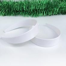 20 шт. 33 мм ширина Новые белые пластиковые резинки для волос широкие простые Стильные обручи для волос повязки на голову для DIY