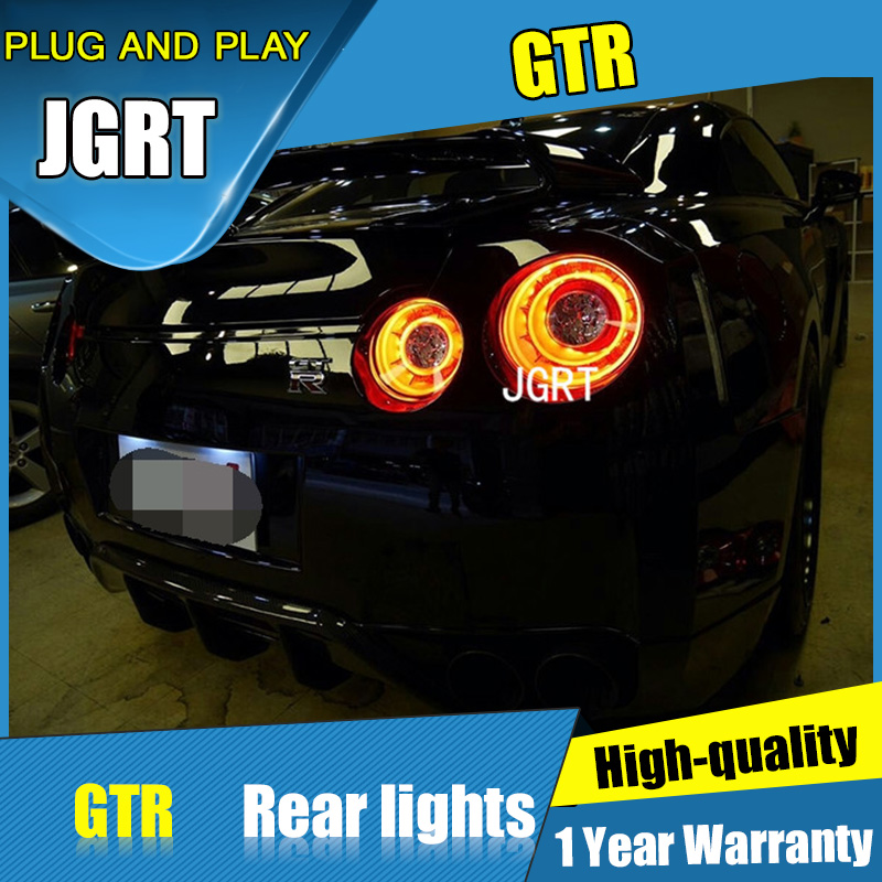 JGRT Car Styling for Nissan GTR  Tail Lights 2007-2012 for GTR LED Tail Lamp+Turn Signal+Brake+Reverse LED light for nissan gtr gtr r35 led tail lights 2007 red