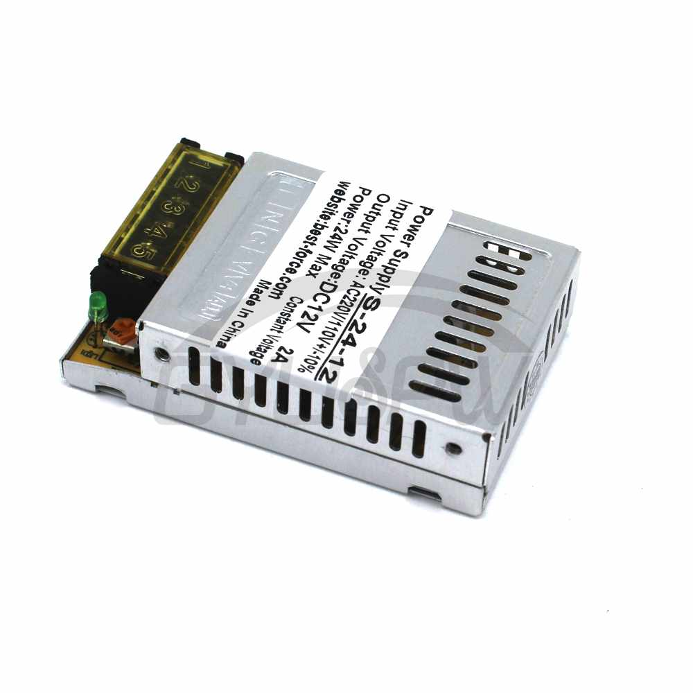Mini Size Single Output 24w 12v 2a Switching Power Supply For Led Dc5v To Dc30v Converter By 74hc14 Strip Lamp 100 240v Ac Dc Smps With Cnc Cctv 3d Printer In From