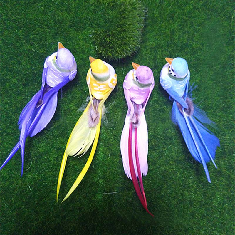 12 3 3cm 4pcs decorative artificial foam feather mini for Feathered birds for crafts