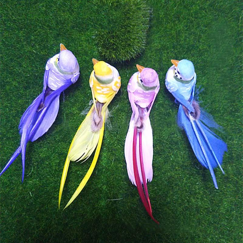 12 3 3cm 4pcs decorative artificial foam feather mini for Artificial birds for decoration