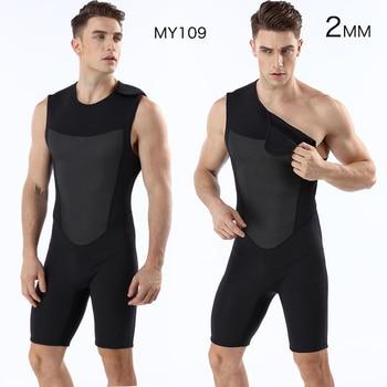 Diving suit neoprene 2mm men pesca spearfishing wetsuit surf snorkel swimsuit Split Suits combinaison surf wetsuit sleeveless