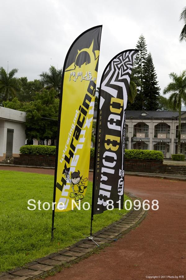 FEATHER FLAG 420 cm Custom Design Outdoor Advertising Flag