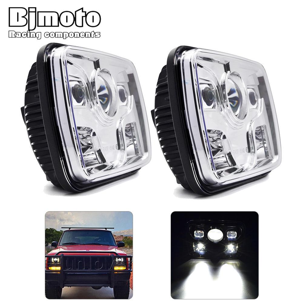 все цены на BJMOTO 60W 5''x 7'' Inch Headlight Daymaker Truck Light Headlamp for jeep Wrangler YJ Cherokee XJ Comanche MJ