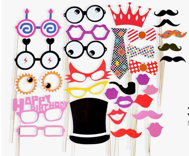 2017 Lustig Papier Bart Requisiten Photo Booth Stick Geburtstag Beach Party Decor Handwerk Veranstaltungen