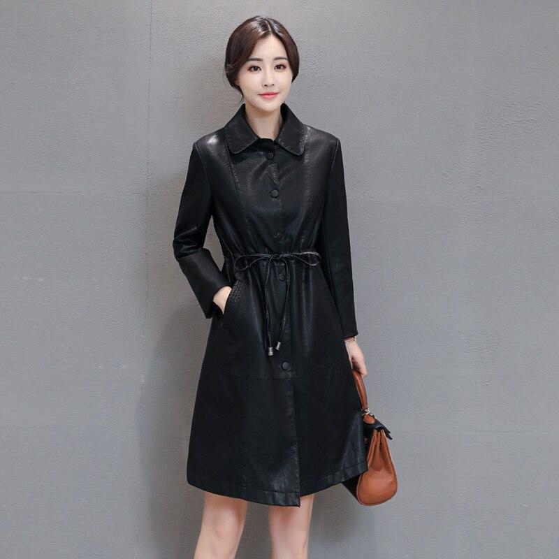 High Quality 2017 Women Faux Leather Jacket Slim Elegant Ladies ...