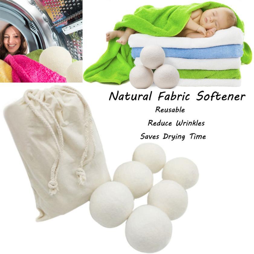 6pcs Wool Laundry Balls For Dryer Washing Machine Premium