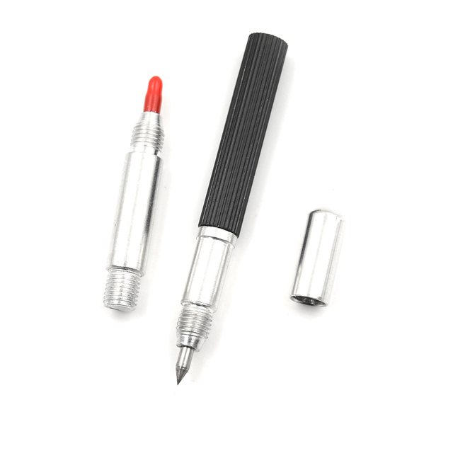 1pc Tungsten Steel Tip Scriber Clip Pen Ceramics Glass Shell Metal Construction Marking Tools BS approx 145 mm