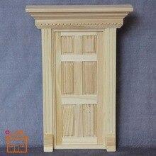 1:12 барокко кукольный домик Деревянные маленькие двери с рамкой