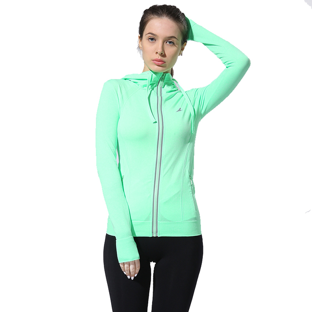 Women's Breathable Hooded Yoga Jacket 5 colors S-L