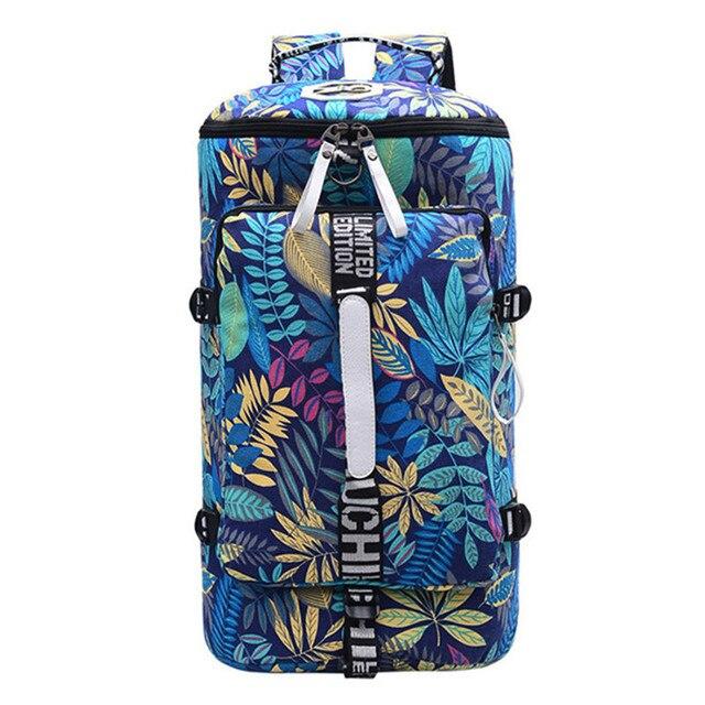 유명 브랜드 캔버스 여성 여행 가방 여성 대용량 여행 배낭 숙녀 다기능 크로스 바디 가방