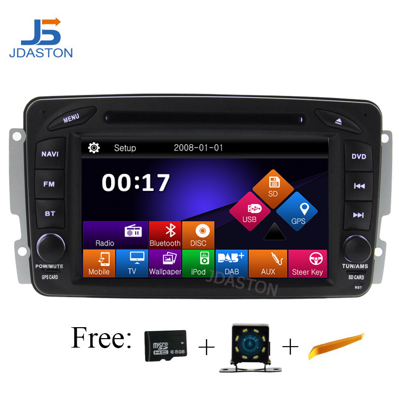 Autoradio JDASTON 2 Din pour Mercedes Benz CLK W209 Viano Vito Vaneo C208 W208 W210 W203 W168 SLK W170 W163 W639 lecteur DVD GPS
