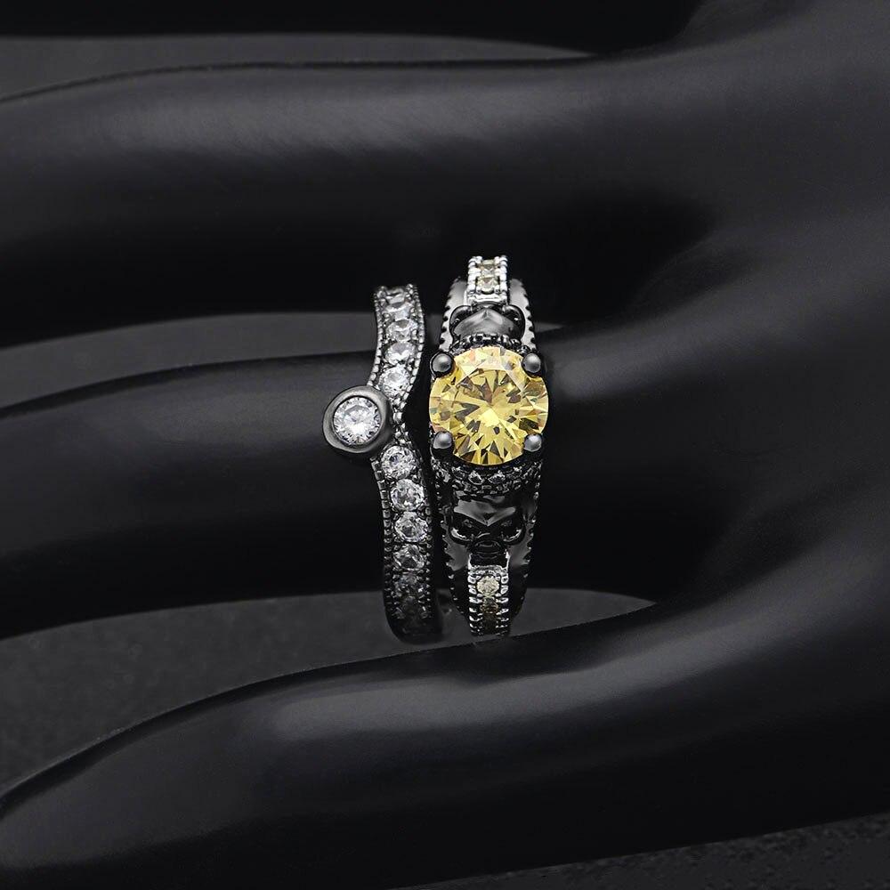 Darky anneau zircon jaune