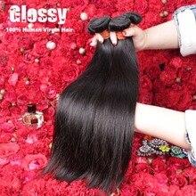 Wowigs Virgin Hair Products 7A Indian Straight Natural Hair 4pcs/lot Anastasia Sexy Furmula Hair Angel Grace Hair Extensions