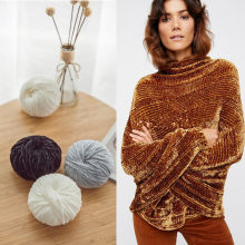 Velvet yarn Soft protein Cashmere Yarn silk wool baby Yarn crochet knitting Yarn cotton baby wool DIY hand-knitted sweater(China)
