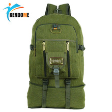 50L large Capacity Outdoor Sports Backpack Top Quality Canvas Travel Rucksack Heavy Duty Bag Mountaineering BackPack