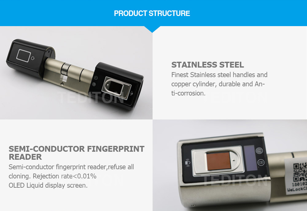 HTB1sIpWKb1YBuNjSszeq6yblFXaJ L5SR-Plus WELOCK Bluetooth APP Smart Lock Electronic Cylinder Outdoor Waterproof Keyless Biometric Fingerprint Scanner door lock