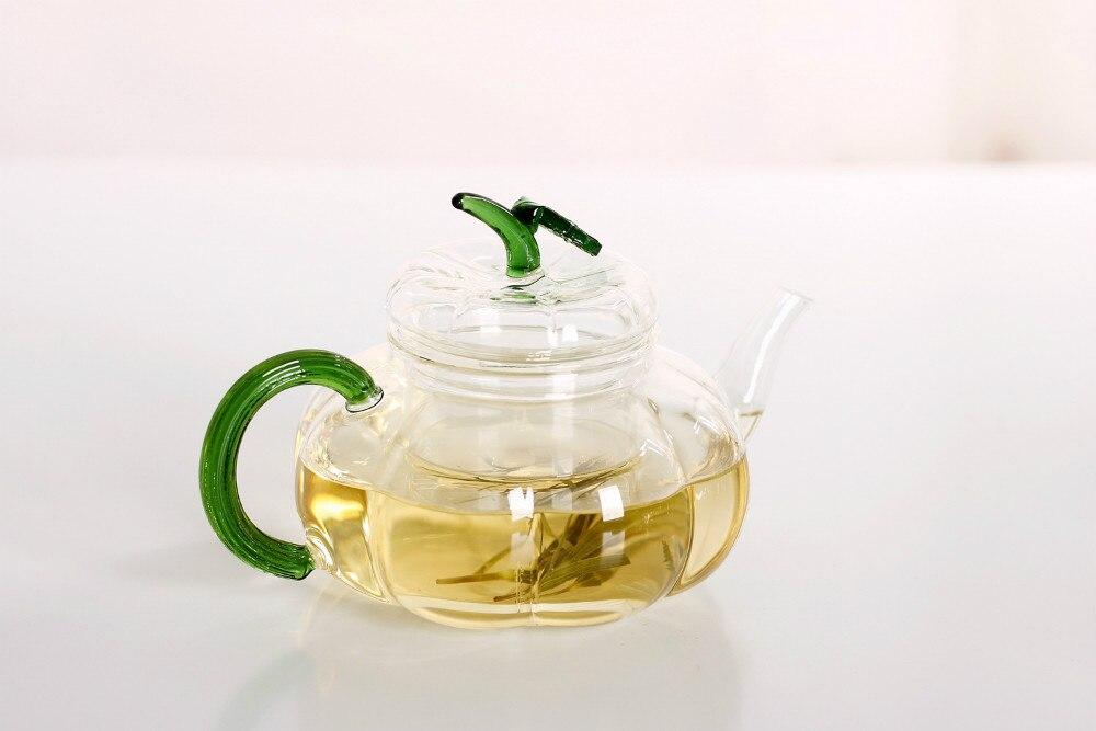 1PC חום עמיד זכוכית קומקום להגדיר תה - מטבח, פינת אוכל ובר