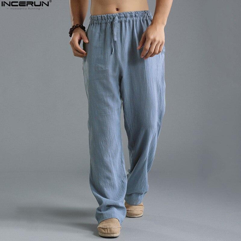 INCERUN moda 2018 verano otoño más tamaño Hip Hop Harem Pantalones Hombre  Pantalones Casual sueltos de e93897f3726