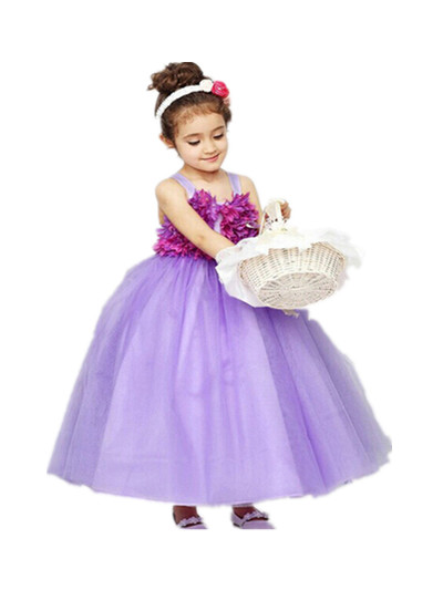 BABY WOW Newborn Baby Flower Girl Dresses Princess Rustic Lace Flower Girl Dresses for Weddings Christmas