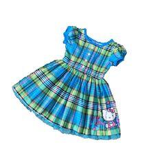 2 3 4 ans filles d'été en coton à carreaux robe enfants vêtements pour l'été bébé filles marque de mode vêtements