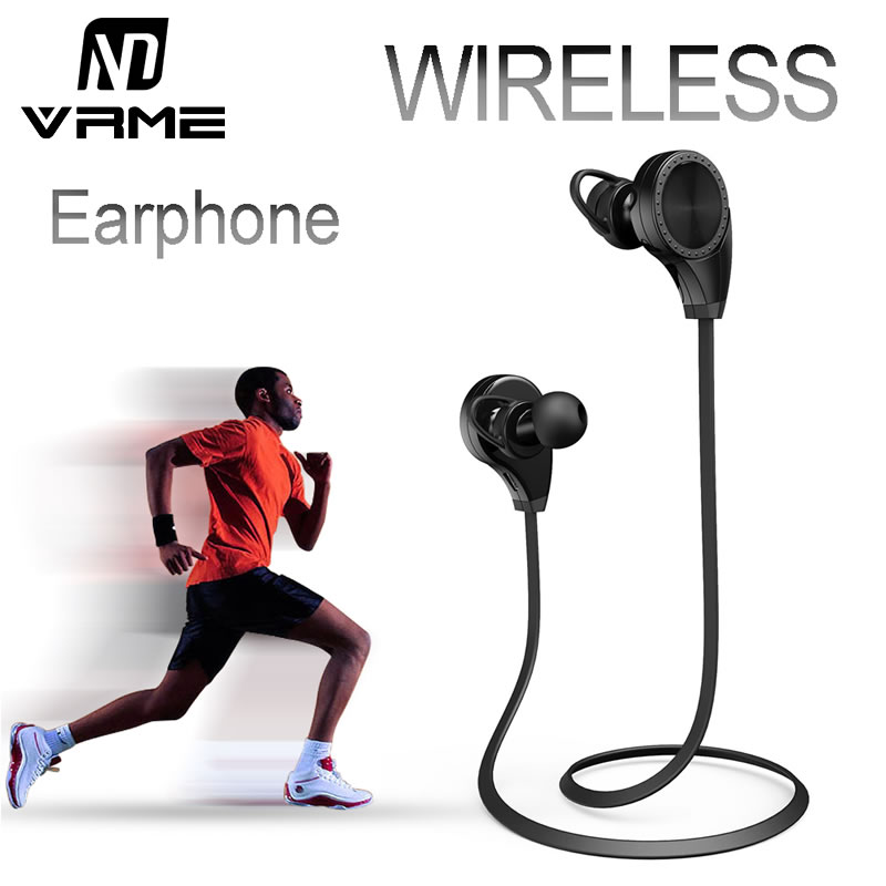 Vrme Bluetooth Headphones Wireless Earphone Stereo Headset Voice Control Hands-free Sport Earbuds with Mic for Xiaomi Iphone 6 edifier p180 earphone with mic bass stereo headset hands free wired control earpiece hifi earbuds for smartphones