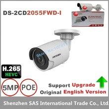 Hikvision Original English Version Surveillance Camera DS-2CD2055FWD-I 5MP Bullet CCTV IP Camera H.265 on-board storage