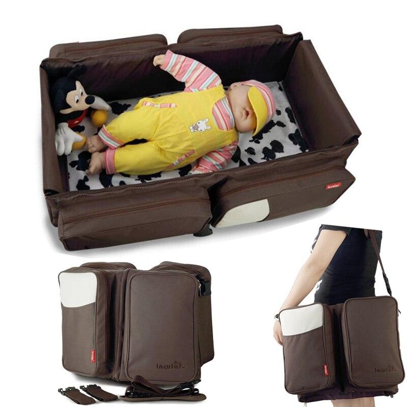 Portable bébé berceau pépinière voyage pliant bébé lit infantile berceau multifonctionnel sac de rangement pour les soins de bébé